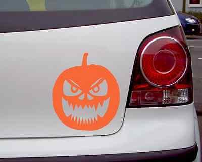 Aufkleber Halloween Kürbiskopf Autoaufkleber 25 Farben Autosticker Sticker Auto