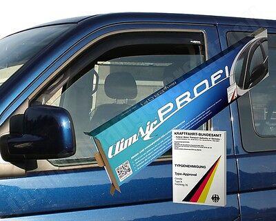 Climair Windabweiser Regenabweiser schwarz für Volkswagen VW T5 & T6 - 3277D