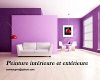 Peinture intérieure et extérieure.