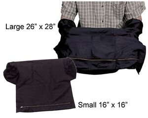 "Film Changing Bag  Small 16"" x 16""  Black  and  26"" x 28"""