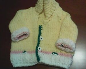 Hand-knitted Baby Sweaters for cool evenings