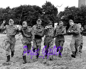 DADS ARMY Charge Cast Signed Autographed 10x8