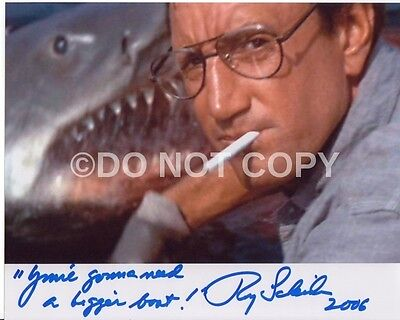 Jaws Roy Scheider Rare Quote 8x10 Autographed Signed Reprint