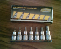 8 Piece Socket Set 3/8""