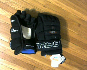 "Bauer Nexus 1N Sr. Hockey gloves.Size 14"".Black.New with tags"