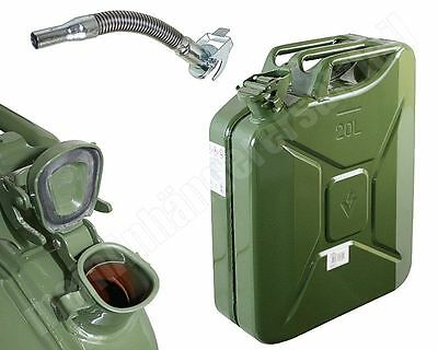 20 Liter 20L Dieselkanister Benzinkanister Metallkanister Kanister + Ausgiesser