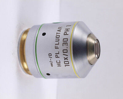 Leica Hc Pl Fluotar 10x Ph1 Phase Contrast Infinity Microscope Objective
