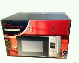 NEW 17L STAINLESS STEEL MICROWAVE OVEN WITH GRILL