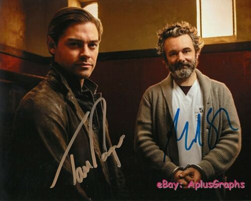 PRODIGAL SON.. Michael Sheen with Tom Payne - SIGNED
