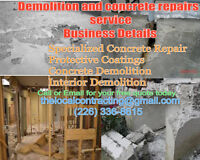 The best solution for your concrete repairs and demolition