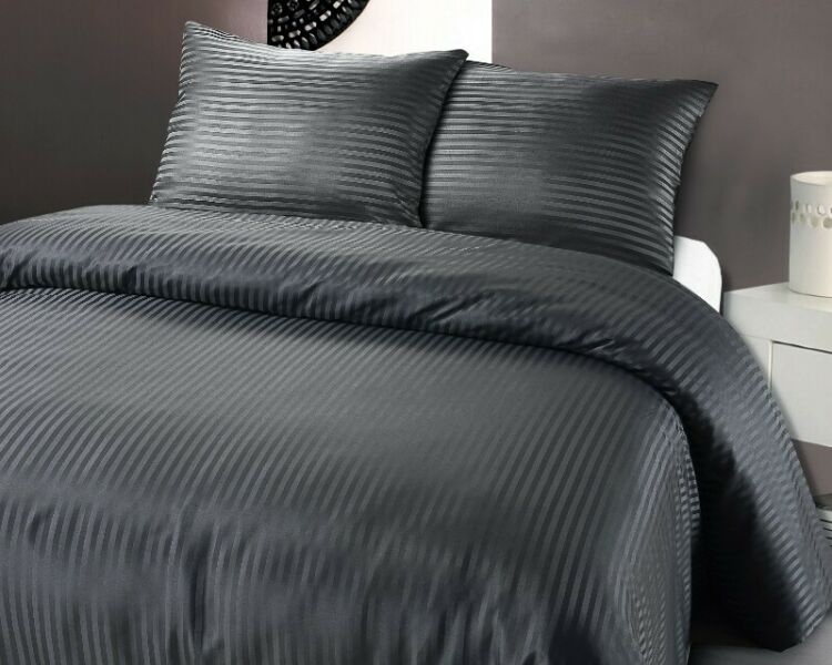 Hotel Look QUEEN BED CHARCOAL Fitted BedSheet +2 Pillowcases