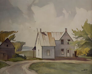 "A.J. Casson ""Barn Near Quadville"" Litho - Appraised at $600"