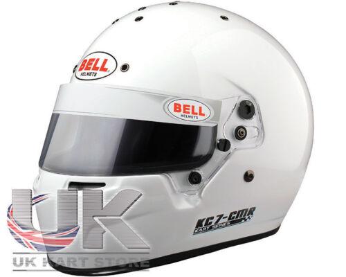 Go Kart Bell KC7-CMR kart Helmet 55 White Karting Race Racing