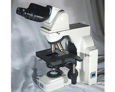 Nikon Eclipse E400 Microscope W Objectives - Ergonomic Head - Complete Setup