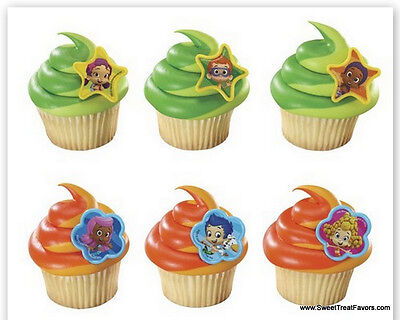 BUBBLE GUPPIES CupCake Cake Topper 12 18 24 Favors Decoration Birthday Moly - Bubble Guppies Cupcakes