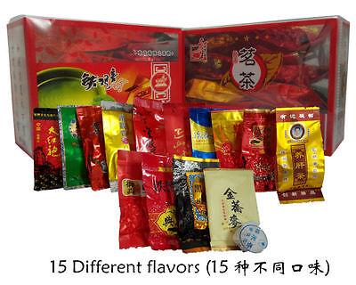 15 Different flavors Tea OolongPuErBlackGreenMilk OolongGinsengflower tea