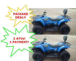 **54 per WEEK** PACKAGE DEAL!!  2 ATVs!!  1 PAYMENT!  400cc 4X4