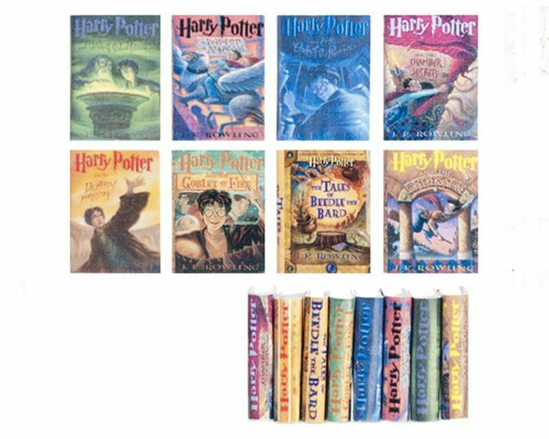 Dollhouse Miniature 1:12 Scale Set of Eight Harry Potter Books