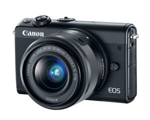 Canon EOS M10 with EF-M 15-45mm, 22mm + more
