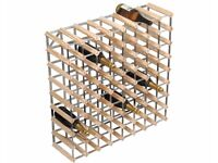 Traditional Wine Rack Co 72 Bottle Light Oak Wine Rack Flat Packed