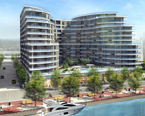 NEW 1 BEDROOM + DEN WITH BALCONY LAKE VIEW CONDO FOR LEASE