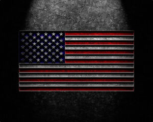 American Flag Stone Texture Canvas Prints