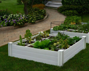 BRAND NEW 4 ft. x 4 ft. WHITE VINYL RAISED GARDEN BED BOX