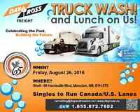 Truck Wash and Lunch on Us!!! Owner Operators and Drivers