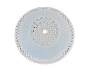 Antique fancy ceiling fixture with frosted blue glass. as is