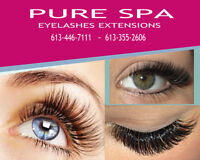 EYELASH EXTENSIONS  Pure Spa  ROCKLAND ~ ORLEANS ~