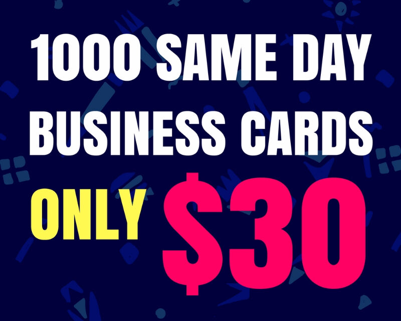 1000 business cards 30 same day printing other mississauga listing item reheart Image collections