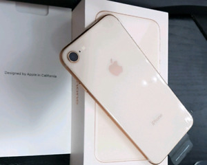 New 64 GB iPhone 8 Rose Gold Unlocked with Warranty