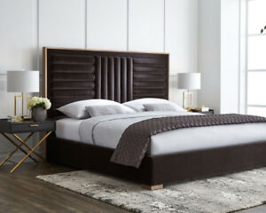 New Tufted Giotto Shale Grey Bed