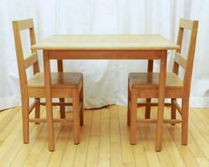 RETRO Hardwood childrens' table and chair set London Ontario image 1