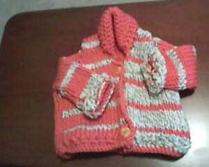 Sweet Hand-Knitted Baby Sweaters
