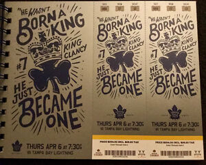 Leafs vs. Tampa Bay Gold Tickets - April 6, 2017