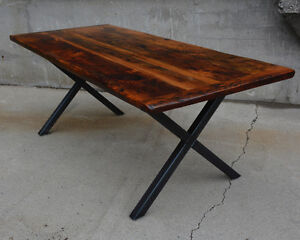 Custom Reclaimed Wood & Live Edge Dining Tables