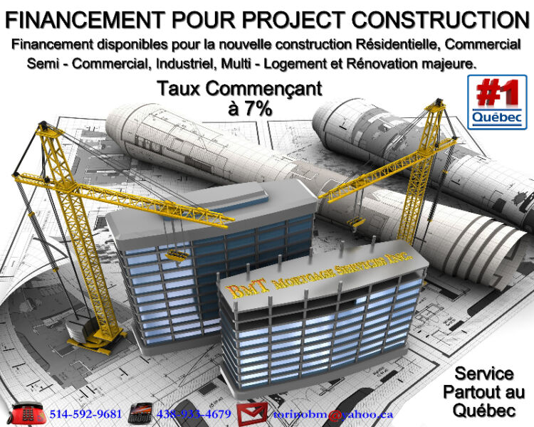 Pr t construction financiers l gaux ville de montr al for Pret construction