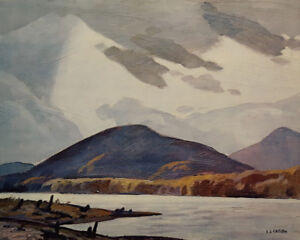 "A.J. Casson ""Halfway Lake"" Litho - Appraised at $700"