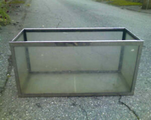 Vintage Chrome 25 Gallon Fishtank Aquarium Fish Tank - Cracked