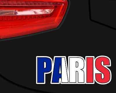 Samunshi Paris Schriftzug Aufkleber France Autoaufkleber Sticker  4 Größen (Paris Aufkleber)