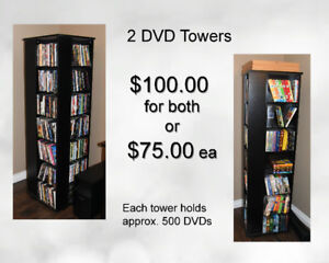 2 Large DVD Towers