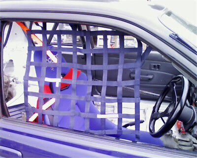 Useful Car Protector Racing Car Safety Equipment Black  Window Net Racing Safety