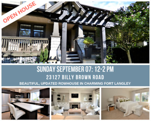 OPEN HOUSE: Beautiful Home in a Fantastic Fort Langley Location