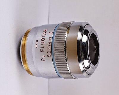 Leitz Pl Fluotar 50x D M32 Infinity Microscope Objective
