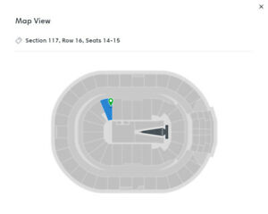 Two Sam Smith Tickets – Section 117