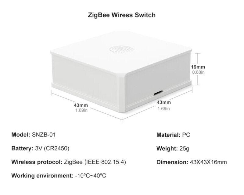 SONOFF Smart Home Zigbee Bridge Wireless Remote Controller Fo Alexa Google Home.