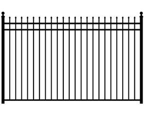 Panneaux et Barrières Iron Eagle Majestic (NOIR LUSTRE