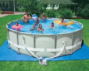 16' intex above ground swimming pool