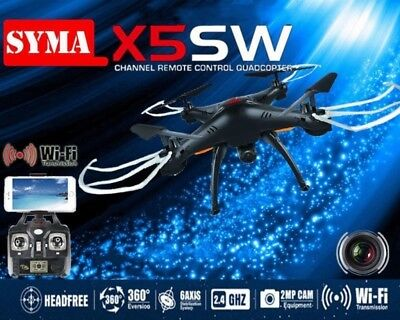 Syma X5SW WIFI FPV 2.4Ghz RC Drone Quadcopter 6Axis 4CH HD Camera Black RTF